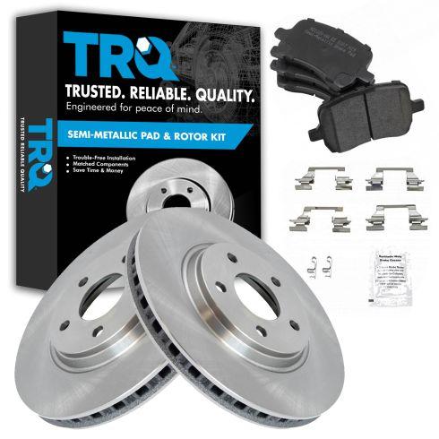 Front Disc Brake Rotor & Pad Set AX55093, AXMD1160