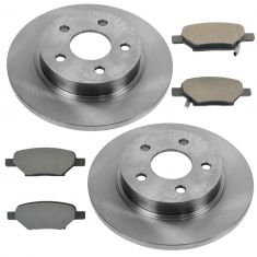 Rear Posi Metallic Disc Brake Rotor & Pad Set AX55094, AXMD1033