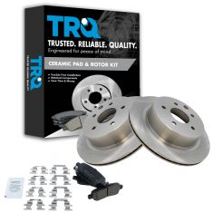 Rear Premium Posi Ceramic Disc Brake Pads & Rotor Set AXCD905,  AX31349
