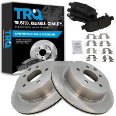 Rear Premium Posi Metallic Disc Brake Pads & Rotor Set AXMD905,  AX31349