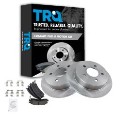 Rear Ceramic Disc Brake Pads & Rotor Set AXCD698, AX55039