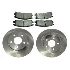 Rear Mertallic Brake Pad & Rotor Set AX55065,  AXMD714