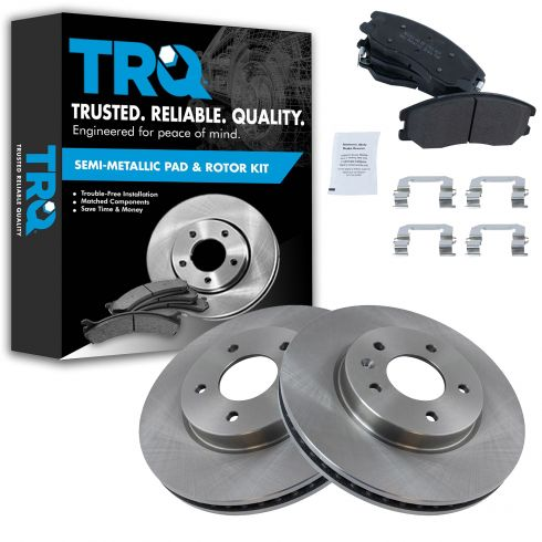 Front Rotors w//Metallic Pad Premium Brakes 2007 08 2009 Equinox Vue Torrent