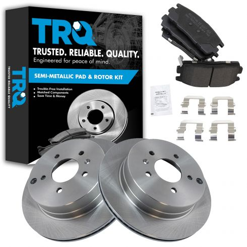 07-09 Equinox, Torrent; 08-09 Vue; 07-09 XL-7; Rear Metallic Pads & Rotor Set
