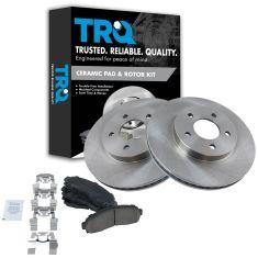 05-06 Equinox; 06 Torrent; 02-07 Vue Front Disc Brake Rotors & Premium Posi Ceramic Pads Set