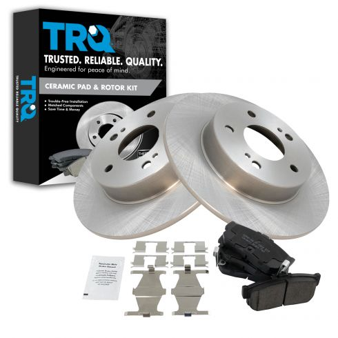 96-10/00 Infiniti I30; 1/94-10/00 Nissan Maxima Rear Ceramic Pads & Rotors Kit