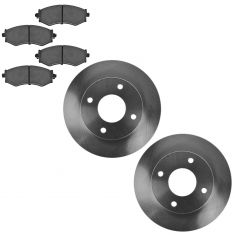 91-96 Infiniti G20; 97-98 nissan 240, 90-92 Stanza, 00-06 Sentra Ceramic Front Pads & Rotor Set