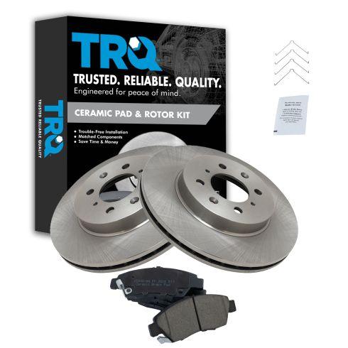Front Disc Brake Rotors And Semi-Metallic Pads Kit For Honda Civic Fit del Sol