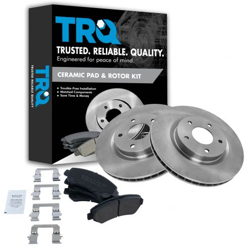 08-12 Nissan Rogue Front Ceramic Pads & Rotors Set