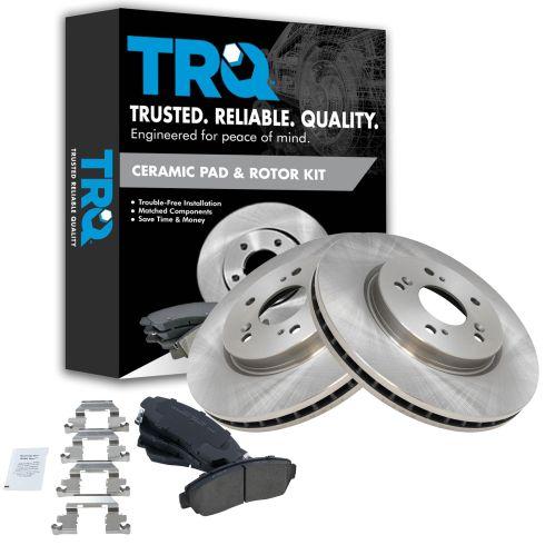 07-12 RDX, CR-V; 10-12 Crosstour Front Ceramic Pads & Rotors Set