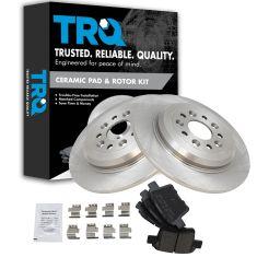 05-07 Freestyle, Montego; 08-09 Tuarus, Tuarus X, Sable Rear Ceramic Pads & Rotors Set