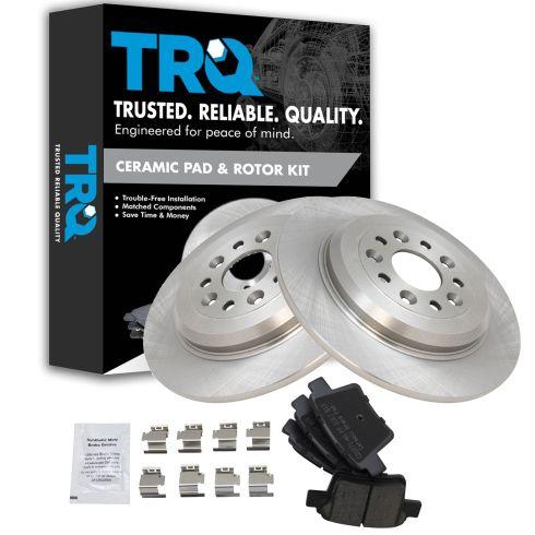 Ford Taurus//X 08-09 FRONT Brake Rotors Ceramic Pads