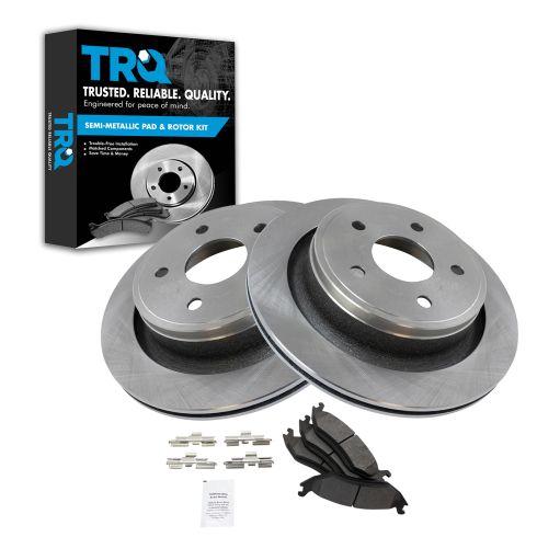 09-12 Ram 1500, 05-09 Durango; 07-09 Aspen Rear Metallic Pads & Rotors Set