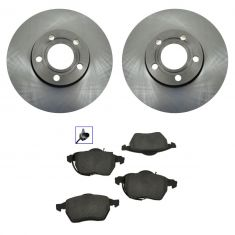 Brake Pads (Male Oval Sensor Connector) & Rotor Kit SEMI- METALLIC