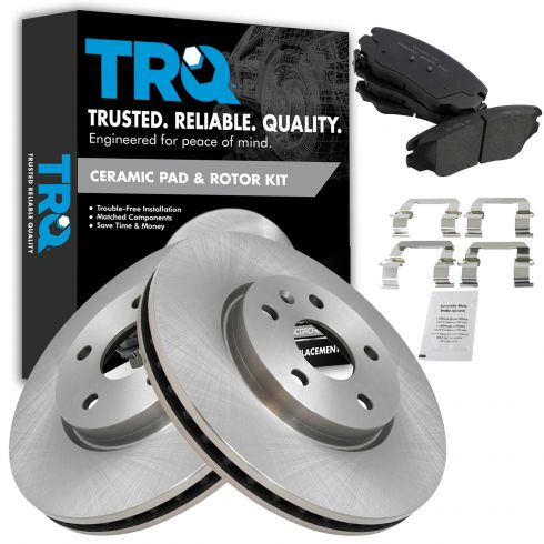 Front Rear Ceramic Brakes For Buick Allure Lacrosse Regal Chevy Impala Malibu
