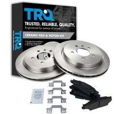 03-07 Cadillac CTS; 05-11 STS Rear Ceramic Brake Pads & Rotors Set
