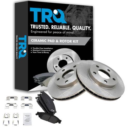 Front Brake Calipers Rotors /& Ceramic Pads For MALIBU GRAND AM ALERO CUTLASS