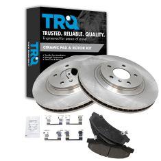 06-11 DTS, Lucerne (JL9); 08-09 Lacross. Allure Super Front Ceramic Brake Pads & Rotors Set
