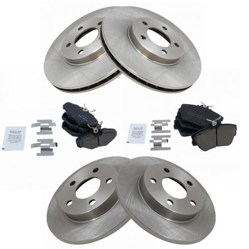 Front+Rear Brake Rotors /& Metallic Pads For FORD TAURUS CONTINENTAL SABLE SHO
