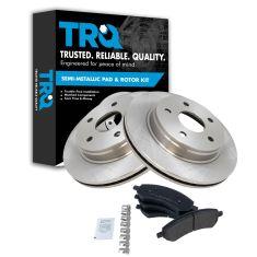 07-09 Aspen, Durango; 06-08 Ram 1500; 09-12 Ram 1500 Fr Premium posi Semi Metallic Pads & Rotors Set