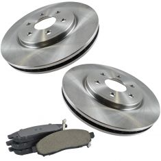 09-12 Frontier 4.0; 05-12 Pathfinder 4.0; 05-10 Xterra; 09-11 Equator Front Ceramic Pads & Rotors