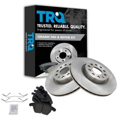 06-12 Audi VW Multifit Front Ceramic Brake Pads & 312mm Rotors Set