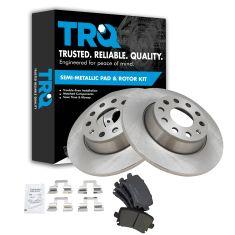 06-12 Audi VW Multifit Rear Metallic Brake Pads & 286mm Rotors Set