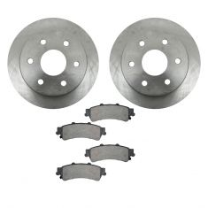 99-05 Cadillac, Chevy, GMC Pickup SUV Rear CERAMIC Brake Pad & Rotor Kit