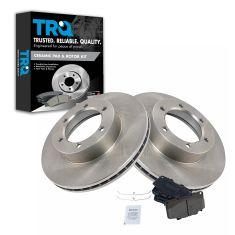 92-95 Toyota 4Runner; 93-98 T100 4WD Front CERAMIC Brake Pad & Rotor Kit