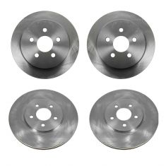 95-00 Cirrus; 01-06 Sebring (exc Cpe); 95-06 Stratus; 96-00 Breeze Front/Rear Brake Rotor (Set of 4)
