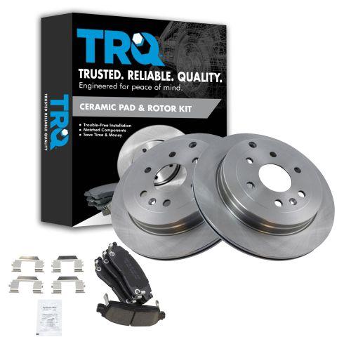 07-12 Acadia; 08-12 Enclave; 07-10 Outlook; 09-12 Traverse Rear Premium Posi Ceramic Pad & Rotor Kit