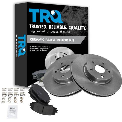 09-12 Corolla, Matrix; 08-12 xD; 09-10 Vibe Front CERAMIC Brake Pad & Rotor Kit