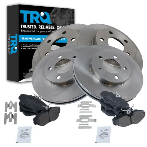 94-00 Ford Taurus, Mercury Sable;93-94 Lincoln Continental Front/Rear METALLIC Brake Pad & Rotor Kit