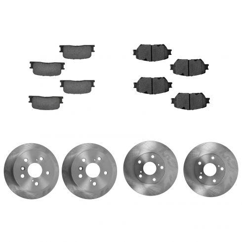 Nakamoto Brake Pad /& Rotor Front Premium Posi Ceramic Kit for 02-06 Toyota Camry