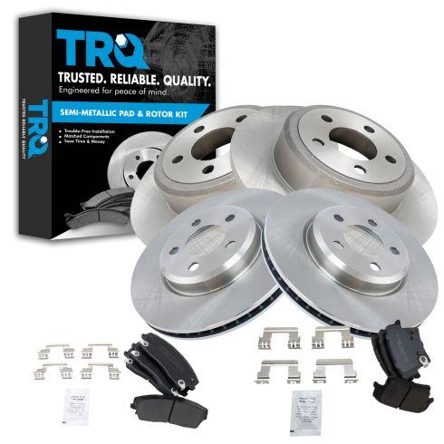 Brake Pad Dodge Challenger Charger Chrysler V6 RWD Pad Rotror Kit Front Rotors