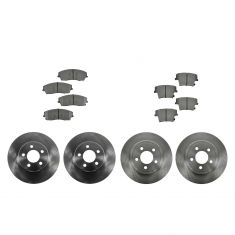 05-12 300; 09-12 Challenger; 06-12 Charger; 05-08 Magnum Front & Rear METALLIC Brake Pad & Rotor Kit