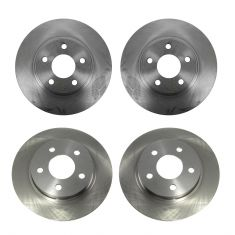 97-05 Buick, Cadillac, Olds, Pontiac Multifit Front & Rear Disc Brake Rotor (Set of 4)