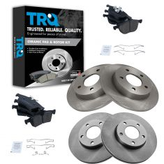 06-10 Mazda 3 2.0L Front & Rear CERAMIC Brake Pad & Rotor Kit