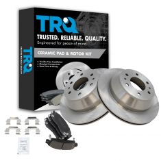 2002-09 Trailblazer Envoy Ascender Rainier Rear Premium Posi Ceramic Brake Pad & Rotor Kit