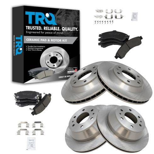 2002 2003 2004 2005 Chevy Trailblazer GMC Envoy Front Brake Rotors Ceramic Pad
