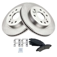 Max Brakes Front /& Rear Premium OE Rotors and Metallic Pads Brake Kit TA038443-8