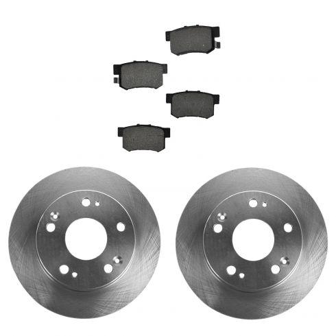 Front Rear Disc Rotors /& Semi-Metallic Brake Pads Fits Honda Accord Acura TSX
