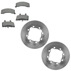 88-00 Chevy, GMC Pickup Suburban Front CERAMIC Disc Brake Pads & Rotor Kit