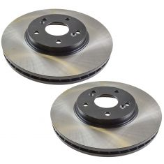 01-03 CL; 01-06 MDX; 99-03 TL; 03-07 Accord; Odyssey; Pilot Frt E-Coated Brk Rotor Pair