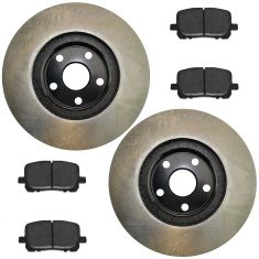03-08 Vibe; 03-08 Corolla; 03-08 Matrix Front Posi Semi Metallic Pads & E-Coated Rotor Set