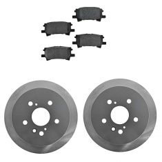04-06 RX330;07-09 RX350;06-08 Rx400h;04-07 Highlander;Rear Posi Semi Met Pads & ECoated Rotor Set