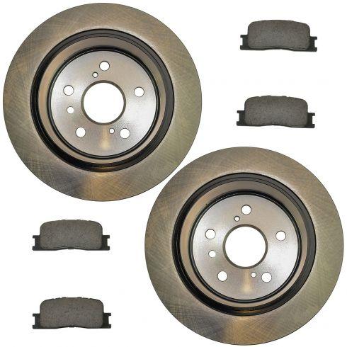 02-03 ES300; 04-06 ES330; 02-06 Camry Vin J Rear Posi Ceramic Pads & E-Coated Rotor Set
