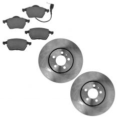 00-10 VW Multifit Front Metallic Brake Pads & Rotors Set