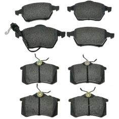 Front & Rear Semi-Metallic Disc Brake Pads Kit (Set of 8)