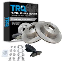 06-13 Nissan 350Z/370Z; Infiniti Multifit Rear Disc Brake Rotor & Premium Posi Ceramic Brake Pad KIT